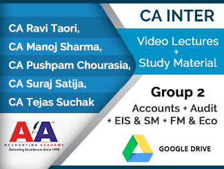 CA Inter Group 2 (Accounts + Audit + EIS & SM + FM & Eco) Video Lectures (Download)