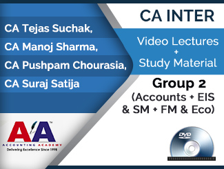 CA Inter Group 2 (Accounts + EIS & SM + FM & Eco) Video Lectures (DVD)