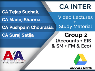 CA Inter Group 2 (Accounts + EIS & SM + FM & Eco) Video Lectures (Download)