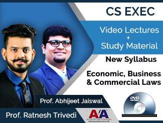 CS Executive New Syllabus Economic, Business & Commercial Laws Video Lectures by Prof. Ratnesh Trivedi & Prof. Abhijeet Jaiswal (DVD)