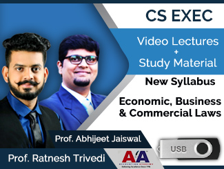CS Executive New Syllabus Economic, Business & Commercial Laws Video Lectures by Prof. Ratnesh Trivedi & Prof. Abhijeet Jaiswal (USB)