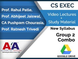 CS Executive New Syllabus Group 2 Combo Video Lectures (Download)