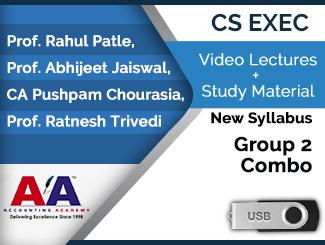 CS Executive New Syllabus Group 2 Combo Video Lectures (USB)