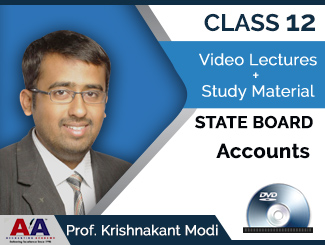 Class 12 State Board Accounts Video Lectures by Prof. Krishnakant Modi (DVD)