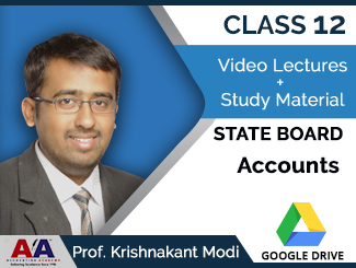 Class 12 State Board Accounts Video Lectures by Prof. Krishnakant Modi (Download)