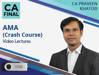 CA Final AMA (Crash Course) Video Lectures by CA Praveen Khatod (USB)