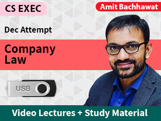 CS Executive Company Law Video Lectures by Amit Bachhawat Dec Attempt (USB)