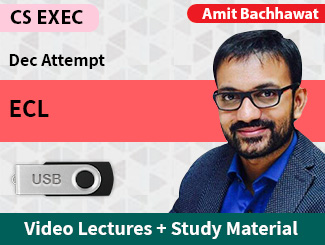 CS Executive ECL Video Lectures by Amit Bachhawat Dec Attempt (USB)