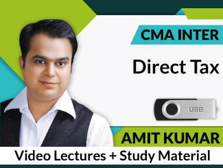 CMA Inter Direct Tax Video Lectures by Amit Kumar (USB)
