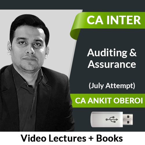 CA Inter Auditing & Assurance Video Lectures by CA Ankit Oberoi July Attempt (USB)