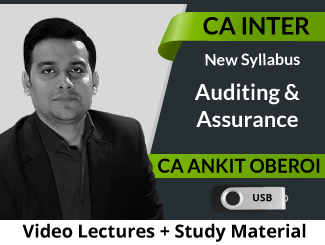 CA Inter Auditing & Assurance Video Lectures by CA Ankit Oberoi (USB)