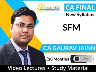 CA Final New Syllabus SFM Video Lectures by CA Gaurav Jainn (USB, 18 Months)
