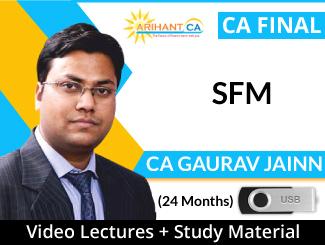 CA Final SFM Video Lectures by CA Gaurav Jainn (USB - 24 Months)