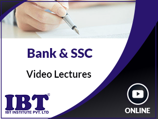 Bank & SSC Video Lectures by IBT Experts (Online)
