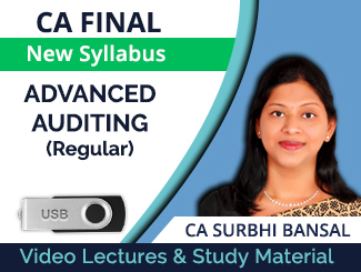 CA Final New Syllabus Advanced Auditing Regular Video Lectures by CA Surbhi Bansal (USB)