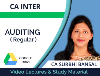 CA Inter Auditing Regular Video Lectures by CA Surbhi Bansal (Download)