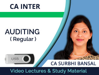 CA Inter Auditing Regular Video Lectures by CA Surbhi Bansal (USB)