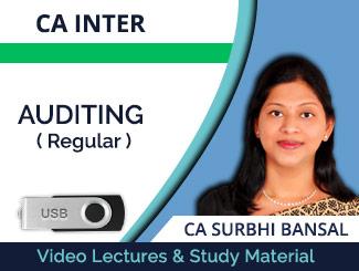 CA Inter Auditing Regular Video Lectures by CA Surbhi Bansal (USB)