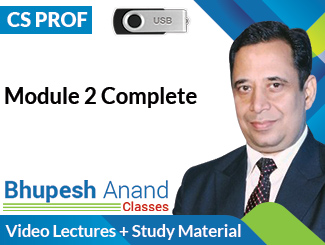 CS Professional Module 2 Complete Video Lectures by CA Bhupesh Anand (USB)