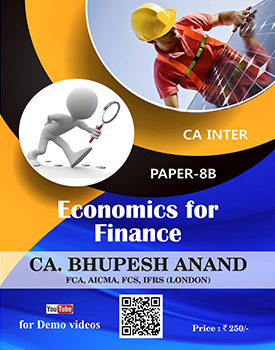 CA Inter - Economics for Finance (EIS) Book by CA Bhupesh Anand