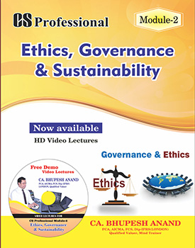 CS Professional - Ethics, Governance & Sustainability (EGAS) Book by CA Bhupesh Anand