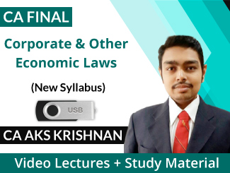 CA Final New Syllabus Corporate & Other Economic Laws Video Lectures by CA AKS Krishnan (USB)