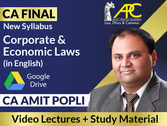 CA Final New Syllabus Corporate & Economic Laws Video Lectures in English by CA Amit Popli (Download)