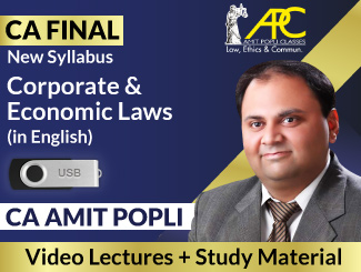 CA Final New Syllabus Corporate & Economic Laws Video Lectures in English by CA Amit Popli (USB)