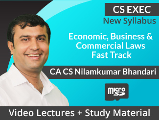 CS Executive New Syllabus Economic, Business & Commercial Laws Fast Track Video Lectures by CA CS Nilam Bhandari (SD Card)