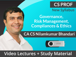 CS Professional New Syllabus Governance, Risk Management, Compliances & Ethics Video Lectures by CA CS Nilam Bhandari (USB)