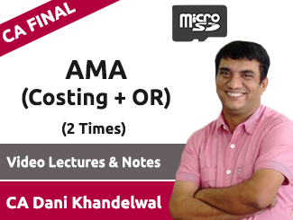 CA Final AMA (Costing + OR) Video Lectures by CA Dani Khandelwal (SD Card, 2 Times)