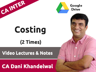 CA Inter Costing Video Lectures by CA Dani Khandelwal (Download, 2 Times)