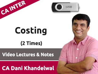 CA Inter Costing Video Lectures by CA Dani Khandelwal (USB, 2 Times)