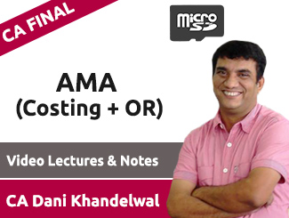 CA Final AMA (Costing + OR) Video Lectures by CA Dani Khandelwal (SD Card)