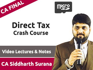 CA Final Direct Tax Crash Course Video Lectures by CA Siddharth Surana (SD Card)