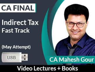 CA Final IDT Fast Track Video Lectures by CA Mahesh Gour May Attempt (USB + Books)