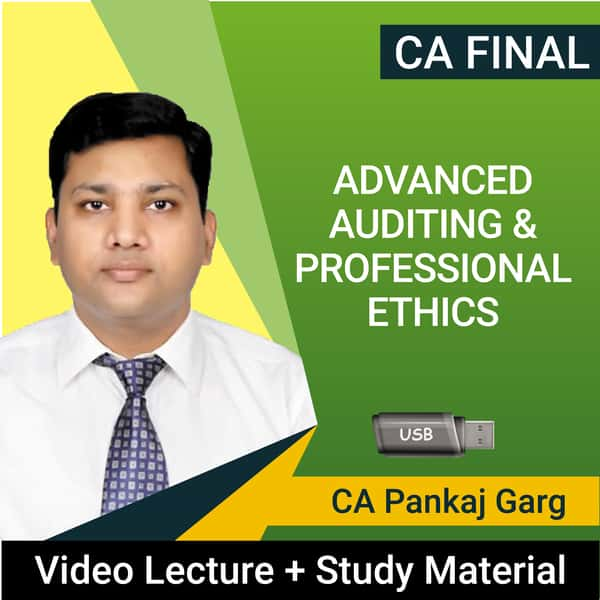 CA Final Advanced Auditing & Professional Ethics Video Lectures by CA Pankaj Garg (USB, May 2021)