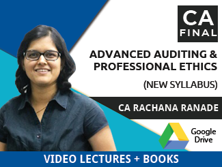 CA Final New Syllabus Advanced Auditing & Professional Ethics Video Lectures by CA Rachana Ranade (Download + Books)