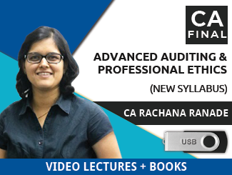 CA Final New Syllabus Advanced Auditing & Professional Ethics Video Lectures by CA Rachana Ranade (USB + Books)