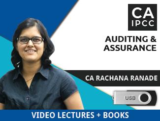 CA IPCC Auditing & Assurance Video Lectures by CA Rachana Ranade (USB)
