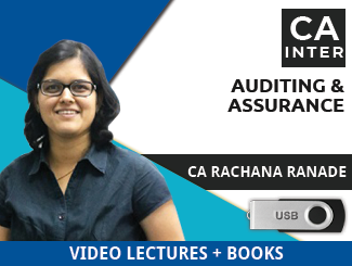CA Inter Auditing & Assurance Video Lectures by CA Rachana Ranade (USB)