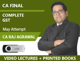 CA Final Complete GST Video Lectures By CA Raj K Agrawal May Attempt (USB + Books)