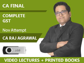 CA Final Complete GST Video Lectures By CA Raj K Agrawal Nov Attempt (USB + Books)
