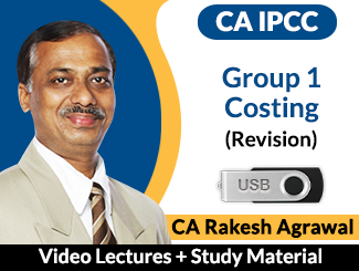 CA IPCC Group 1 Costing Revision Video Lectures by CA Rakesh Agarwal by CA Rakesh Agrawal (USB)