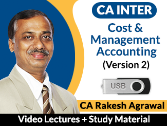 CA Inter Cost & Management Accounting (Version 2) Video Lectures by CA Rakesh Agrawal (USB)