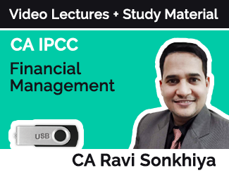 CA IPCC Financial Management Video lectures by CA Ravi Sonkhiya (USB)