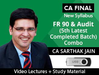 CA Final New Syllabus FR 90 & Audit (5th Latest Completed Batch) Combo Video Lectures by CA Sarthak Jain (USB)