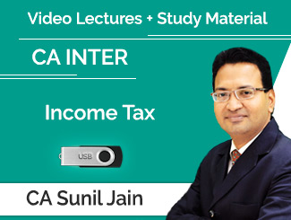 CA Inter Income Tax Video Lectures by CA Sunil Jain (USB)