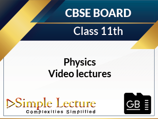 CBSE Class 11th Physics Video Lectures (SD Card)