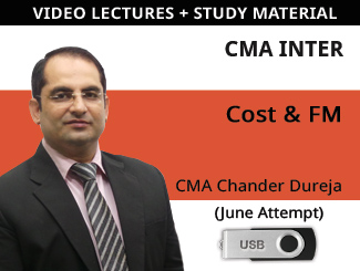 CMA Inter (Cost + FM) Combo Video Lectures by CMA Chander Dureja June Attempt (USB)